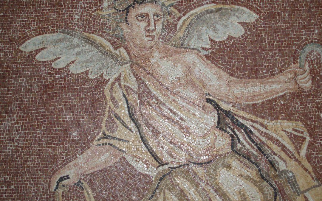 Mosaicos romanos en un hotel de Madrid.